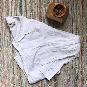ASOS Scalloped White Oxford